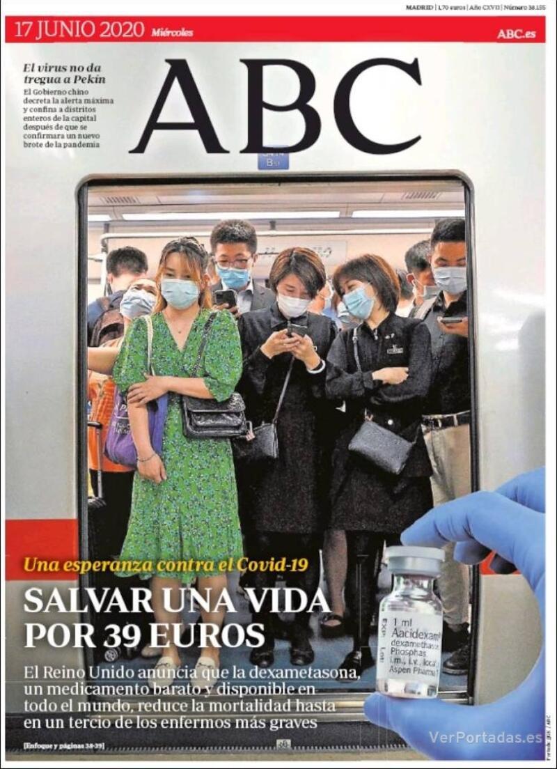 Portada ABC 2020-06-18