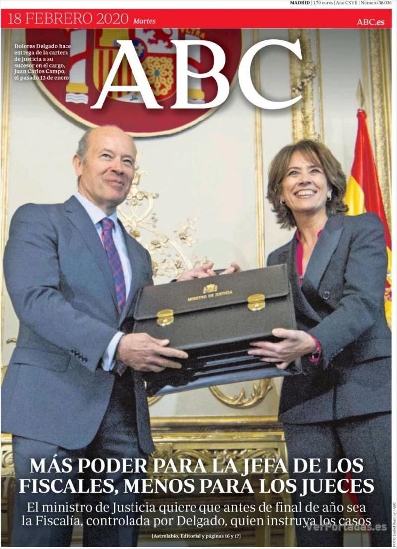 Portada ABC 2020-02-19