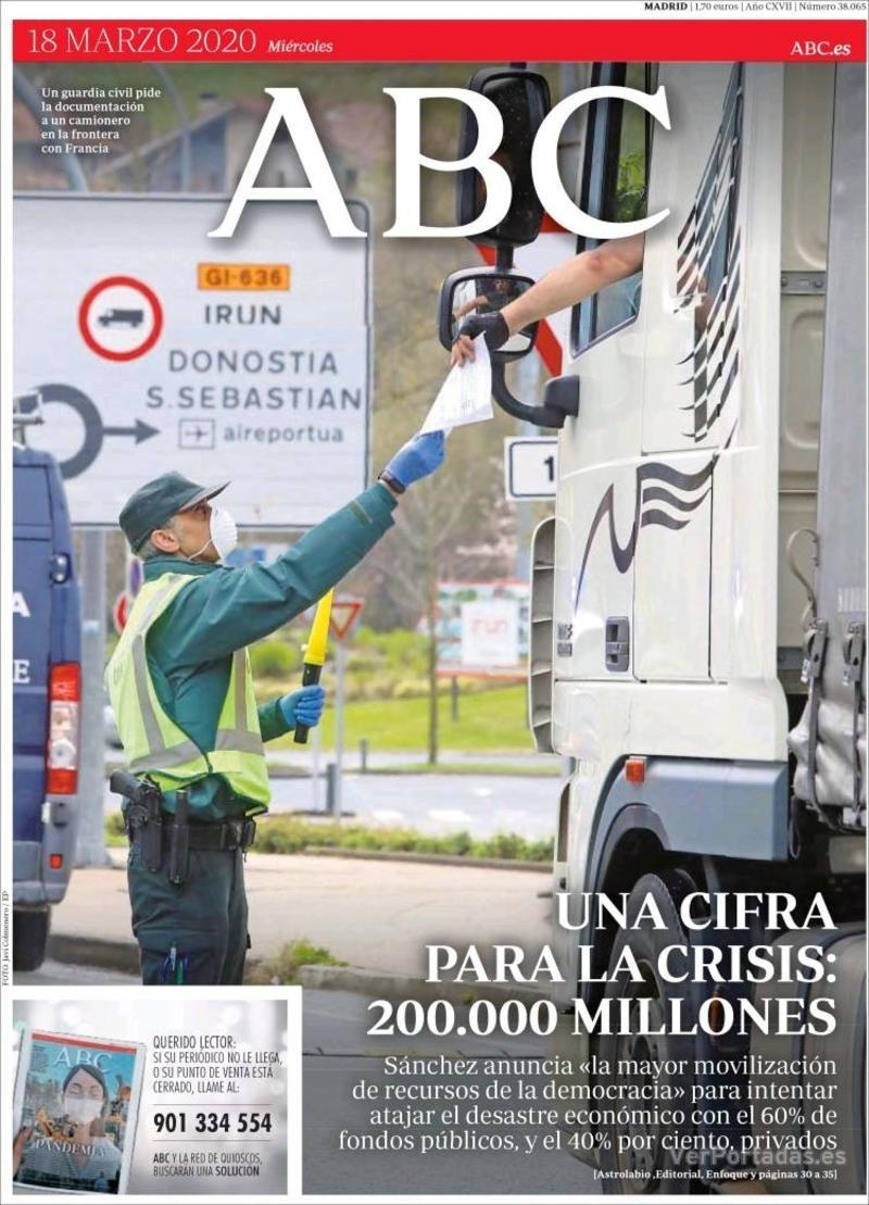 Portada ABC 2020-03-19