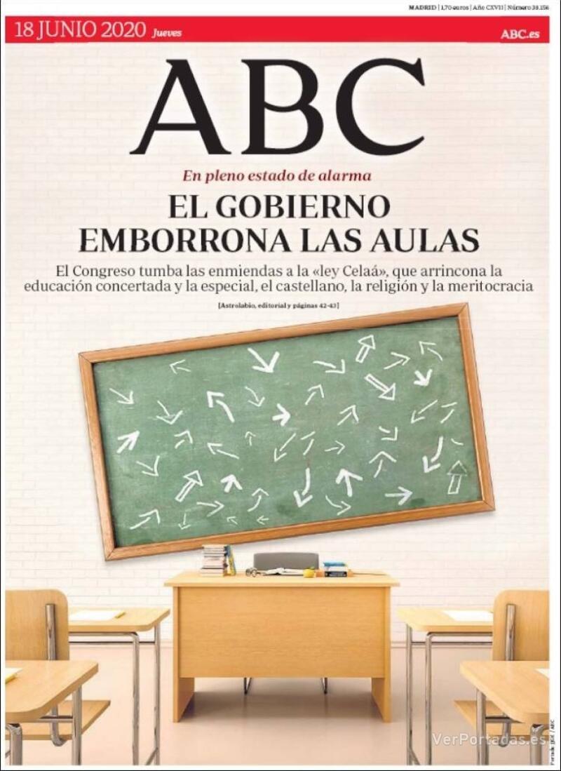 Portada ABC 2020-06-19