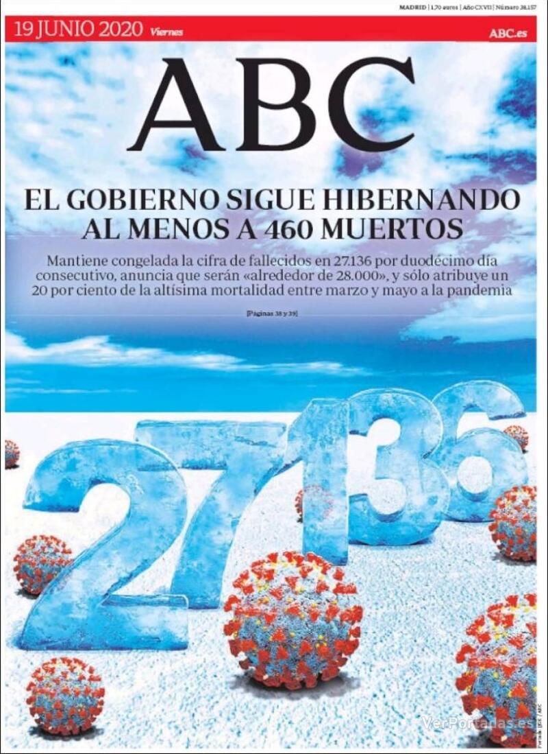 Portada ABC 2020-06-20
