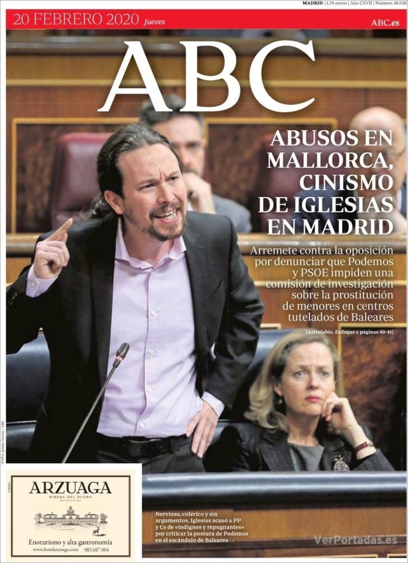 Portada ABC 2020-02-21