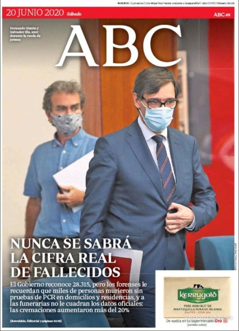 Portada ABC 2020-06-21