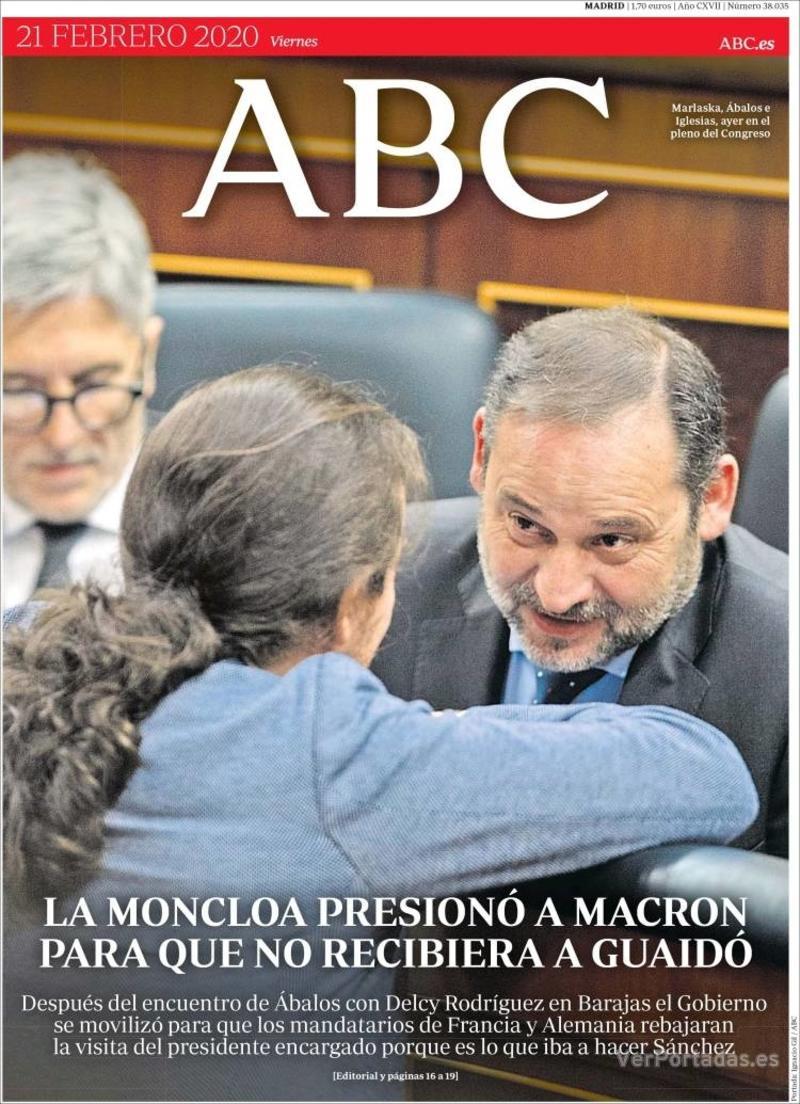 Portada ABC 2020-02-22