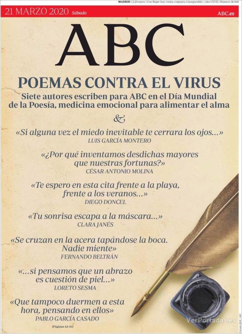 Portada ABC 2020-03-22