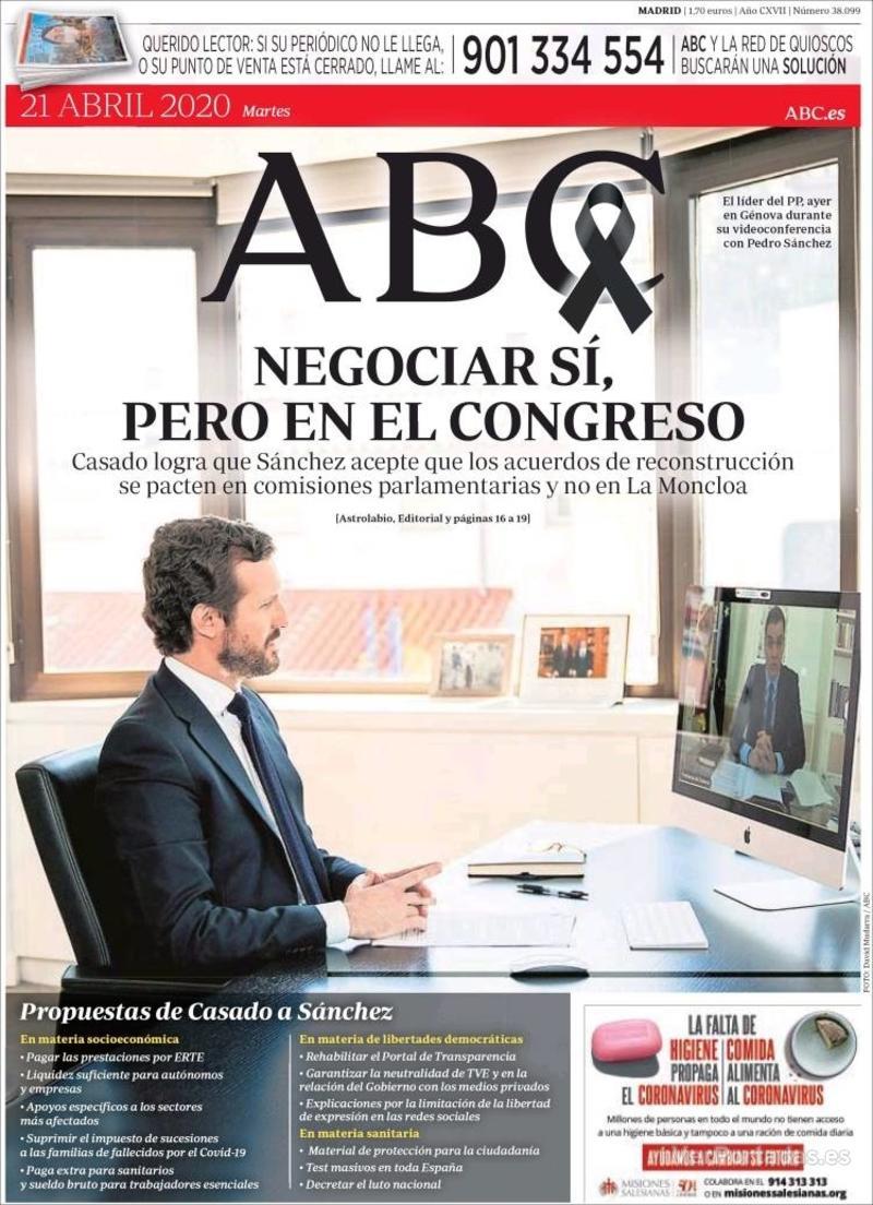 Portada ABC 2020-04-22