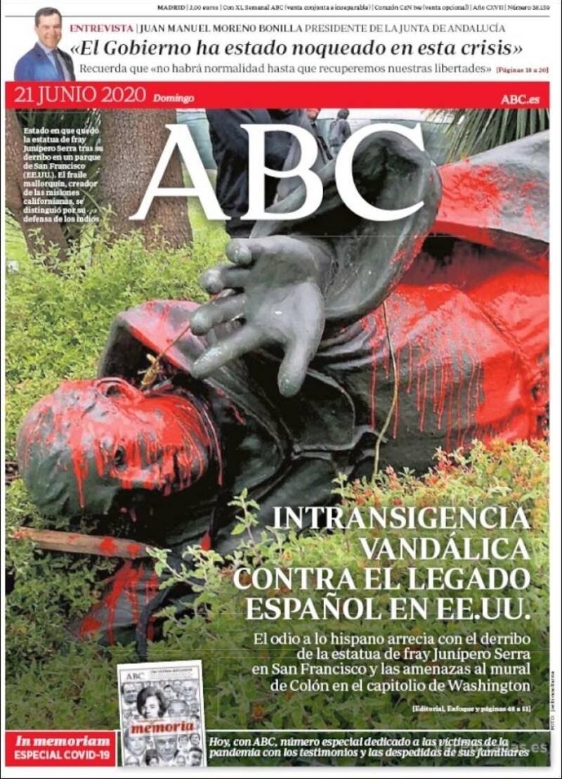 Portada ABC 2020-06-22