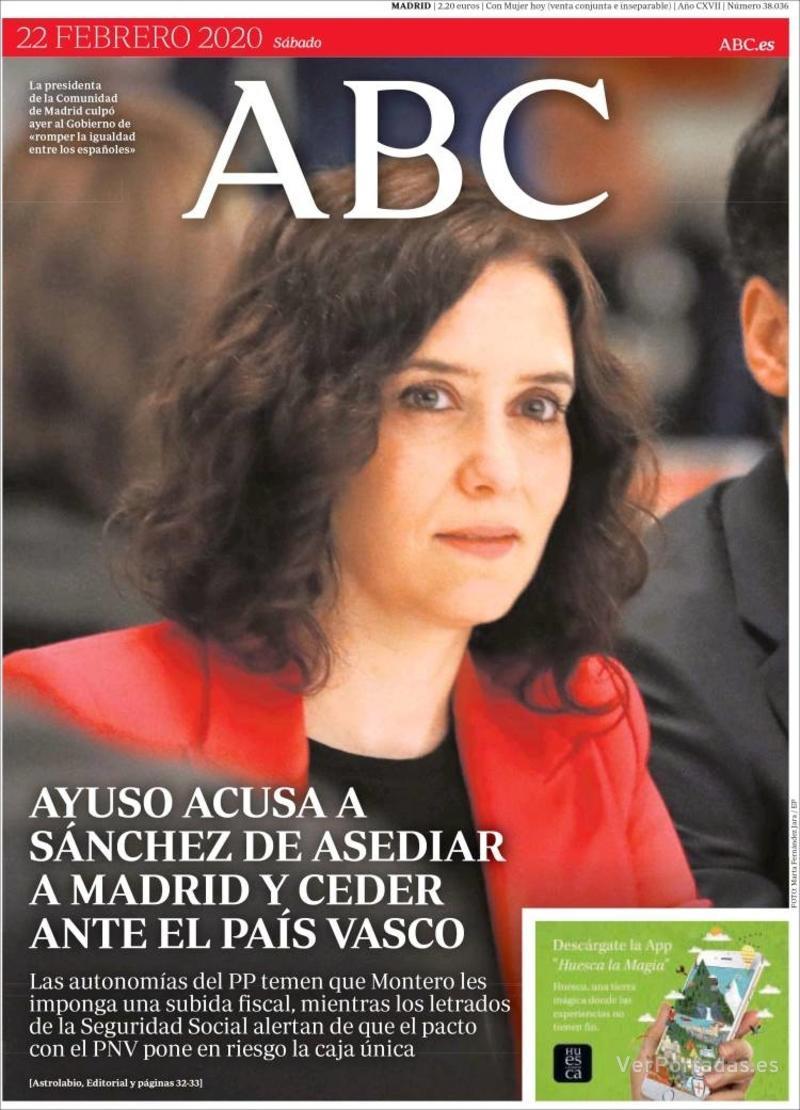 Portada ABC 2020-02-23