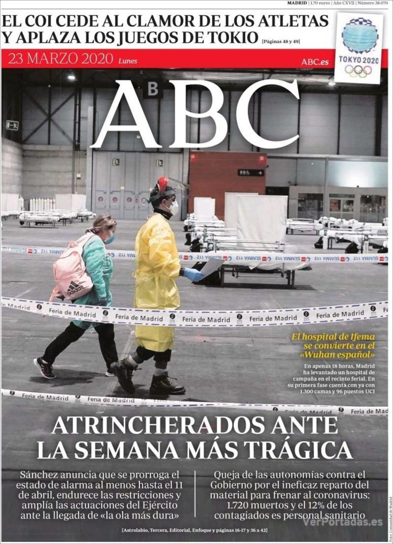 Portada ABC 2020-03-24