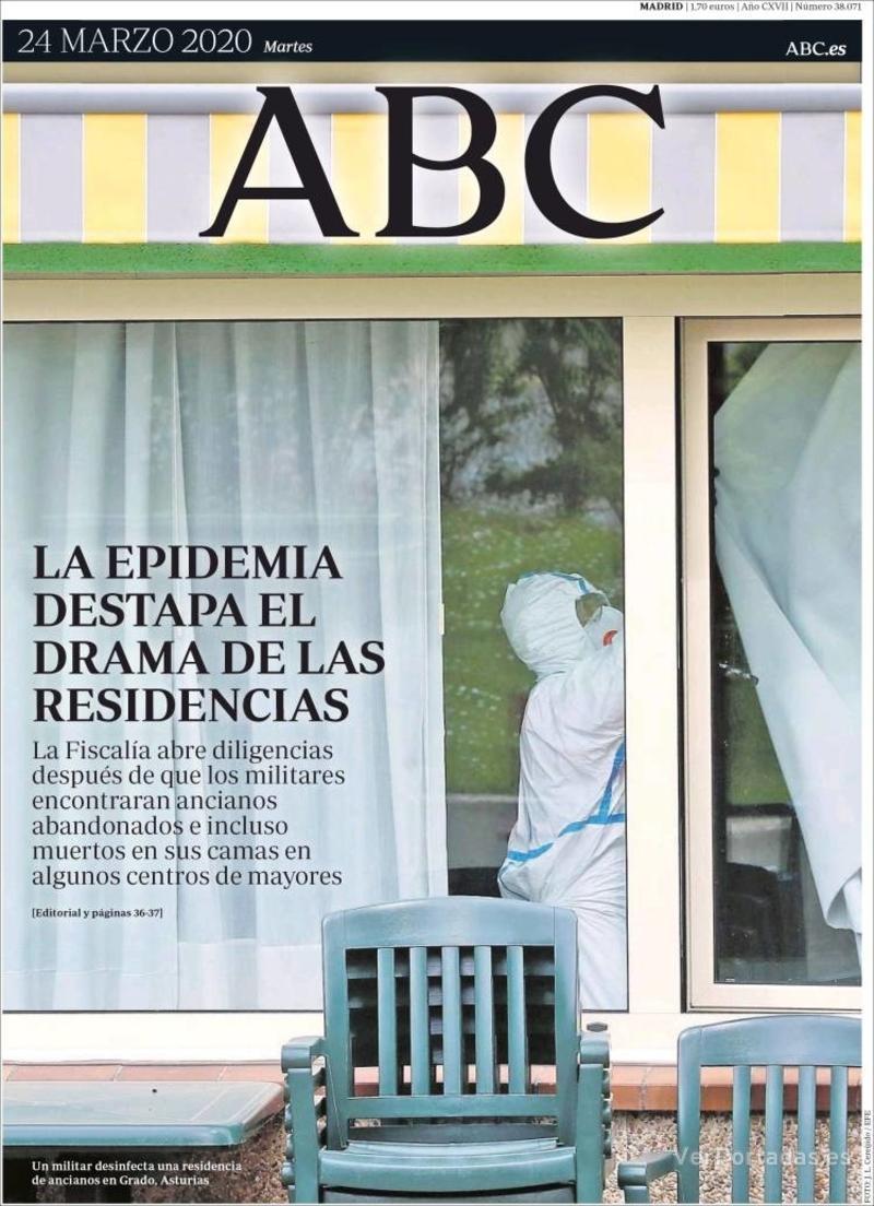 Portada ABC 2020-03-25