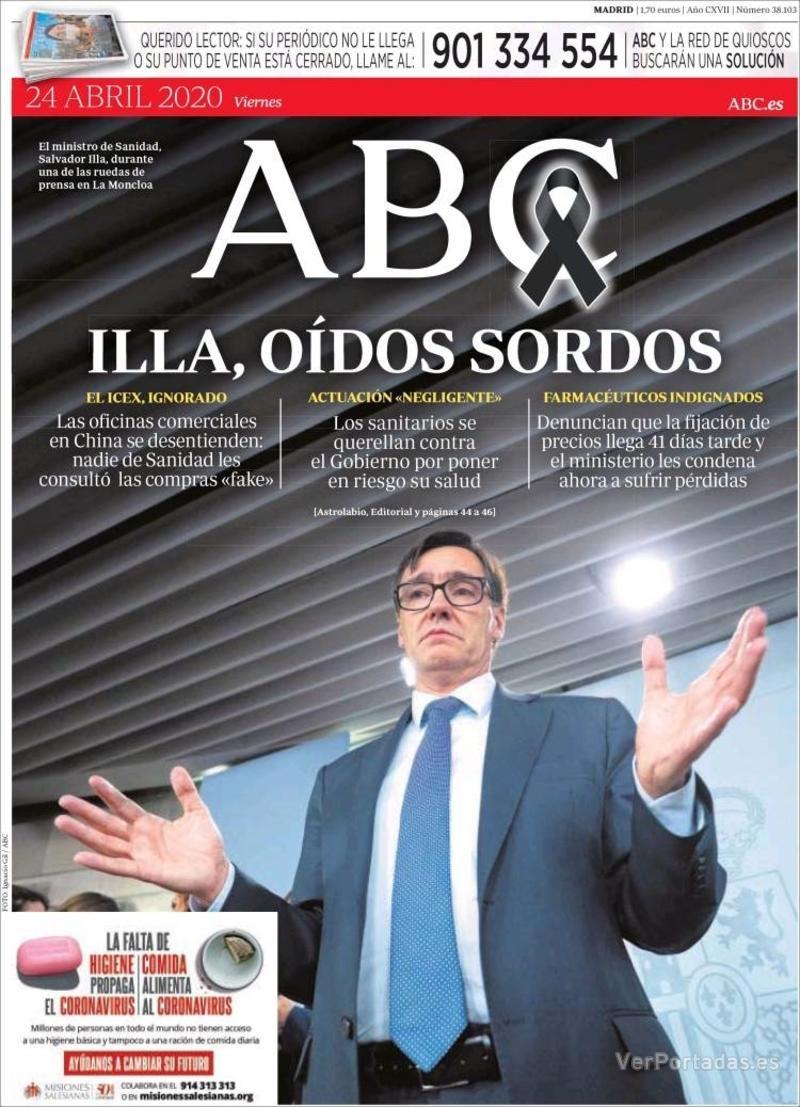 Portada ABC 2020-04-25