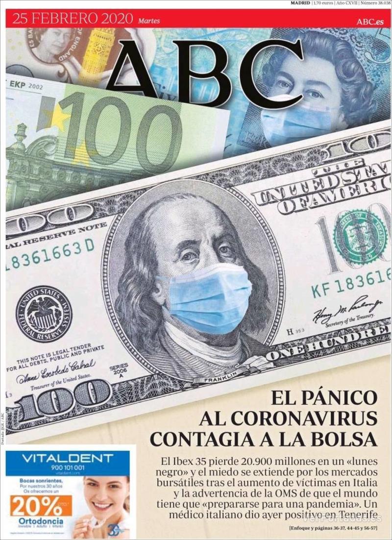 Portada ABC 2020-02-26