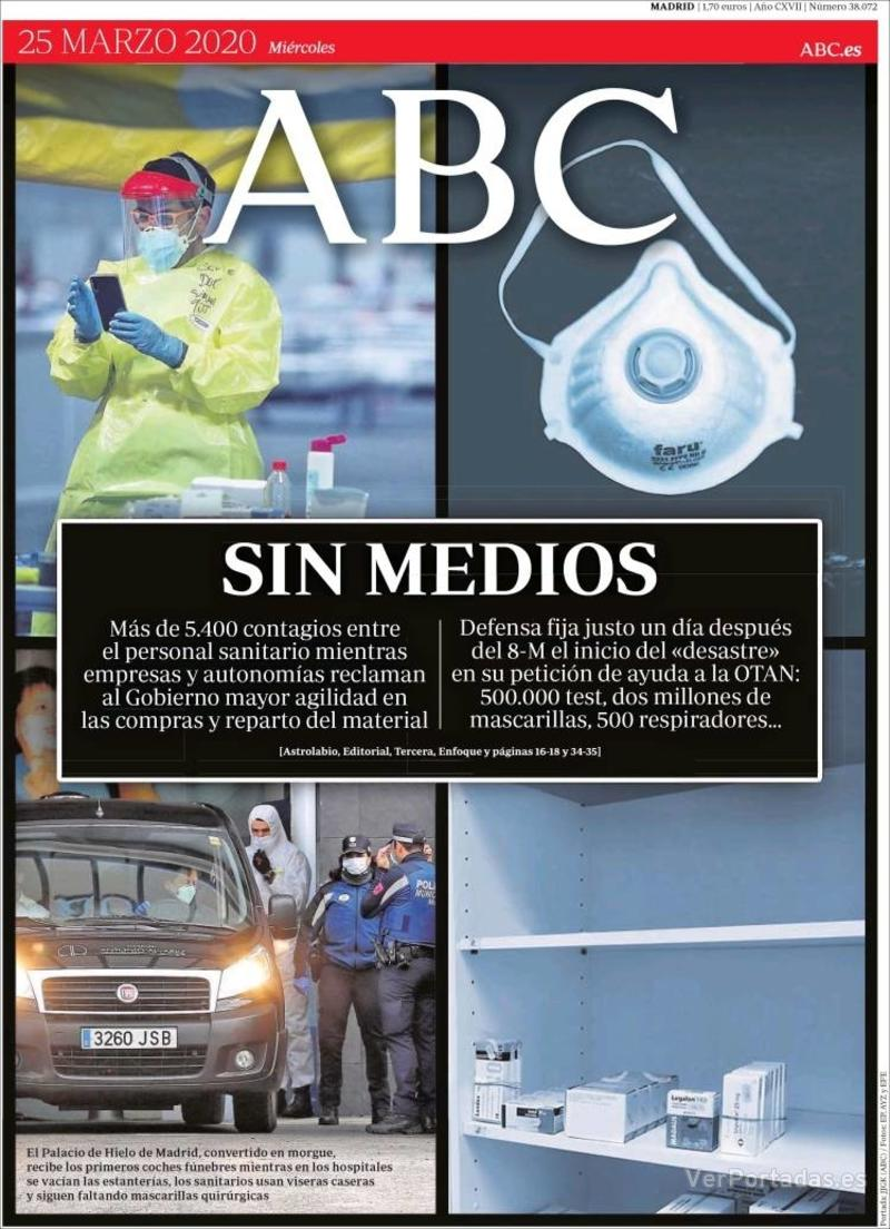 Portada ABC 2020-03-26