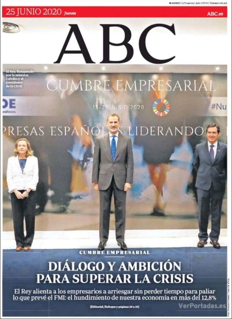 Portada ABC 2020-06-26