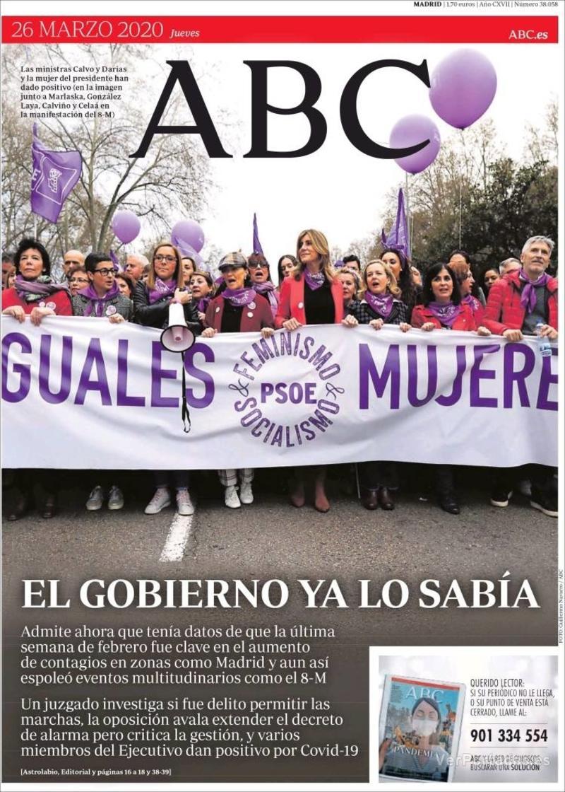 Portada ABC 2020-03-28