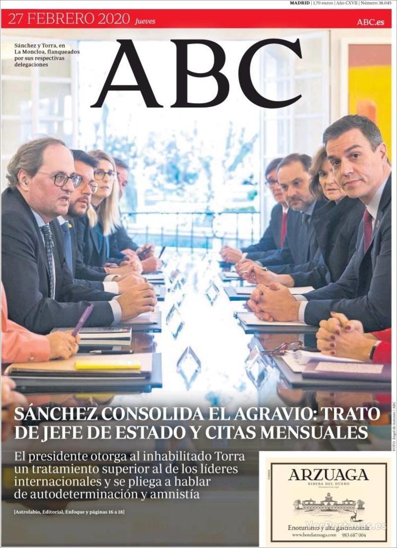 Portada ABC 2020-02-28