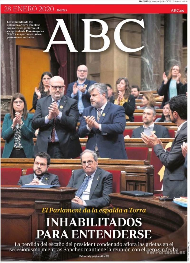 Portada ABC 2020-01-29