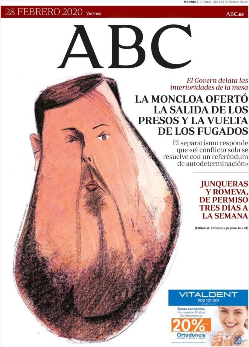 Portada ABC 2020-02-29