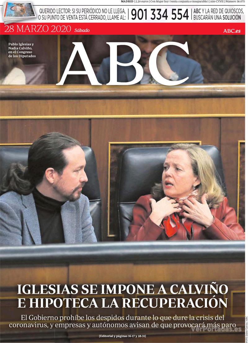 Portada ABC 2020-03-29