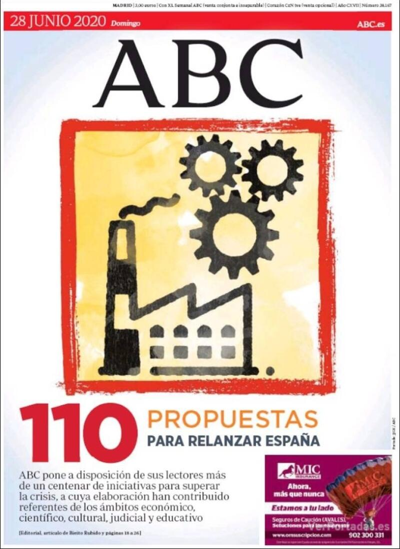 Portada ABC 2020-06-29