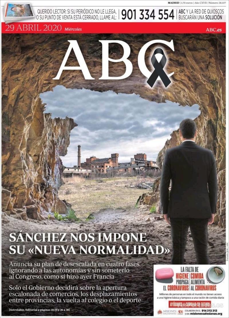 Portada ABC 2020-04-30