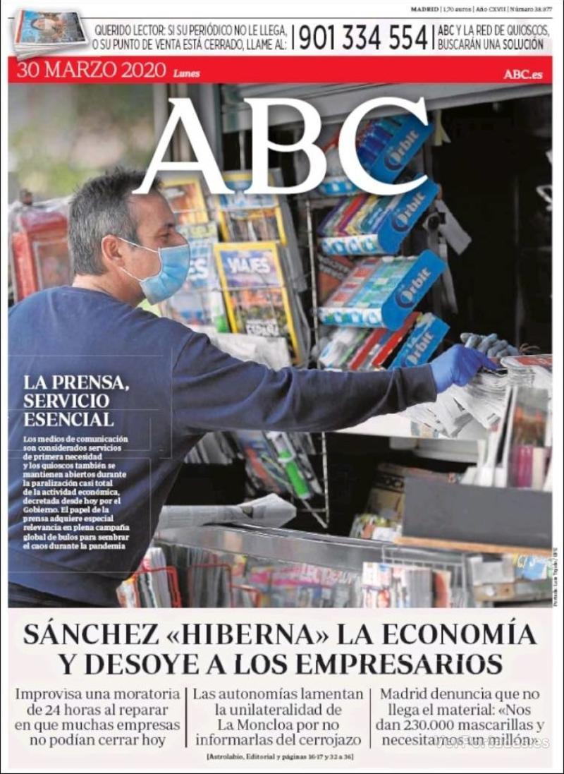 Portada ABC 2020-03-31