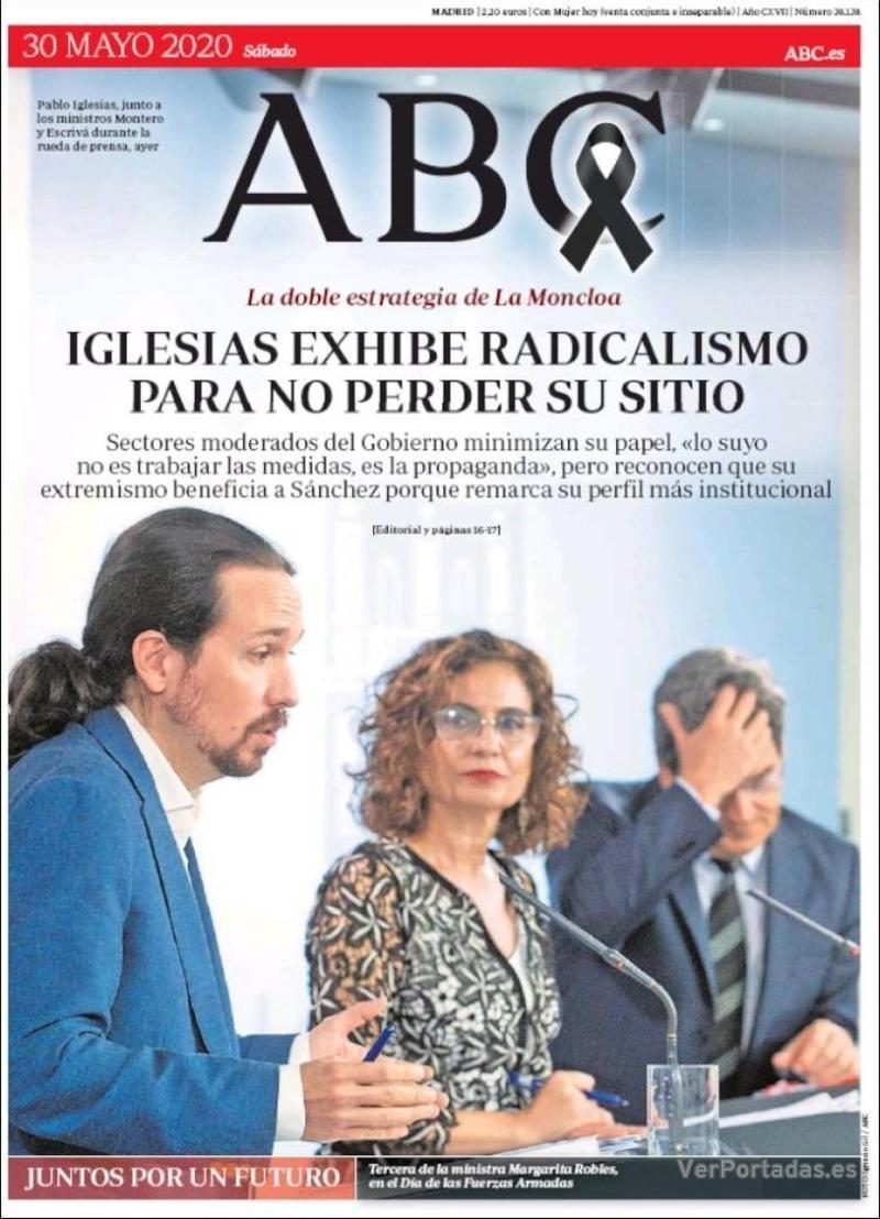 Portada ABC 2020-05-31