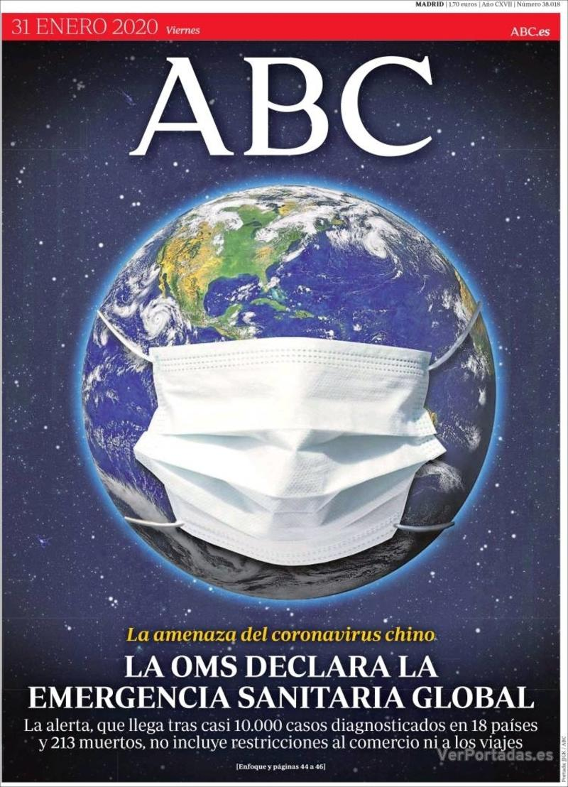 Portada ABC 2020-02-01