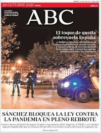 Portada ABC 2020-10-20