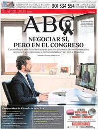 Portada ABC 2020-04-21