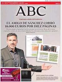 Portada ABC 2020-09-21