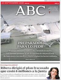 Portada ABC 2020-09-23