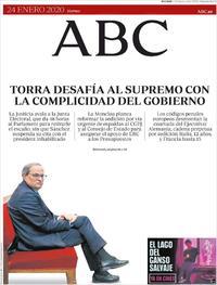 Portada ABC 2020-01-24