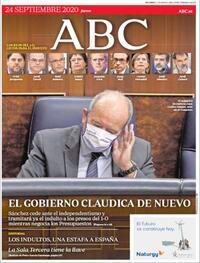 Portada ABC 2020-09-24