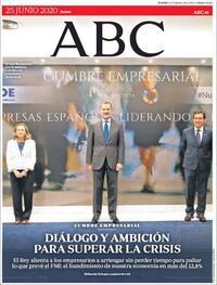 Portada ABC 2020-06-25