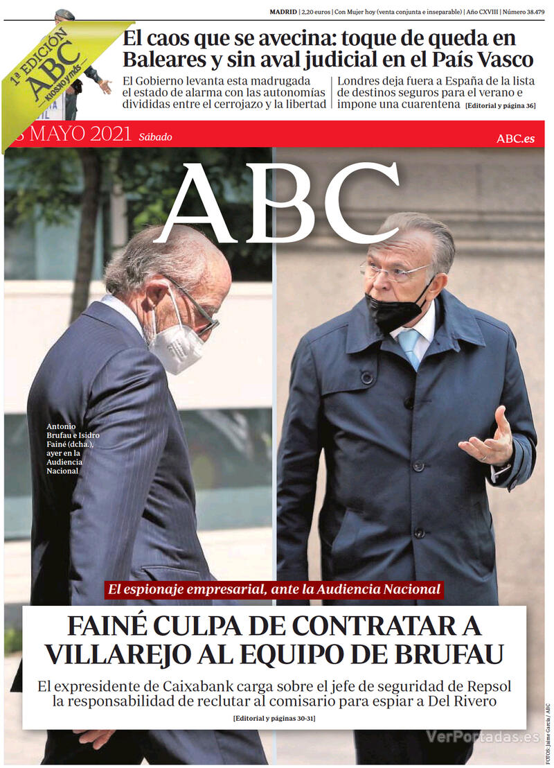 Portada La Vanguardia 2021-05-08