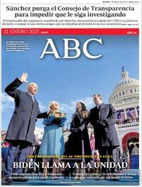Portada ABC 2021-01-21