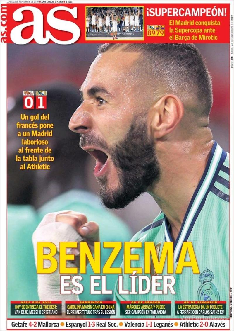 Portada Sport 2019-09-23