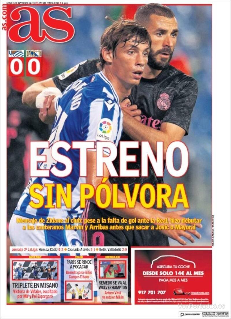 Portada Sport 2020-09-21