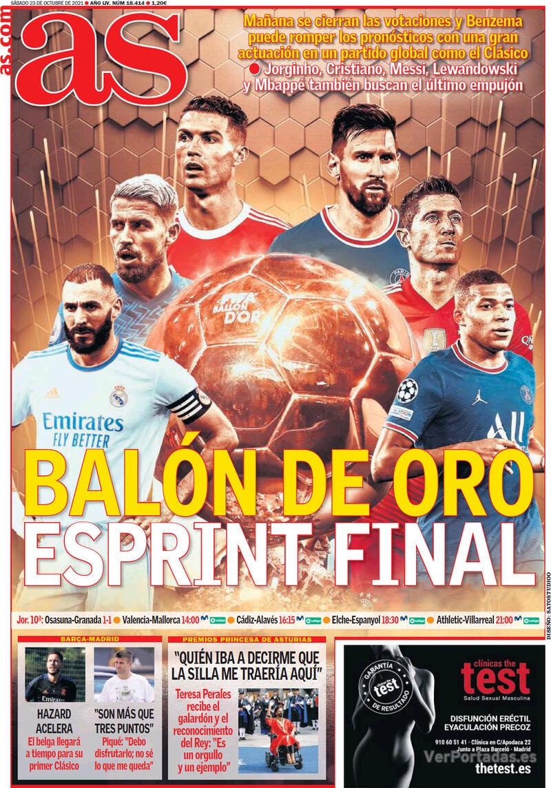Portada Sport 2021-10-23