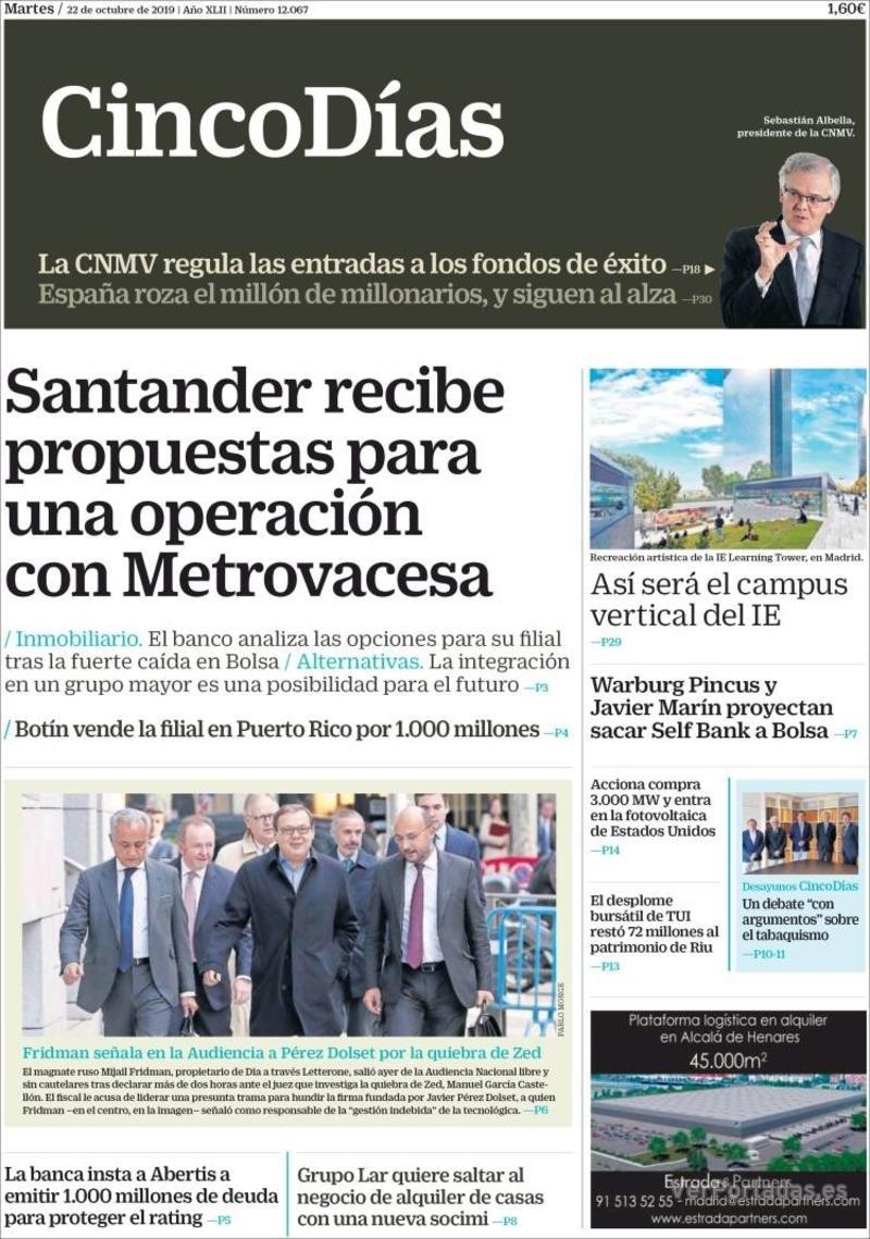 Portada El Economista 2019-10-22