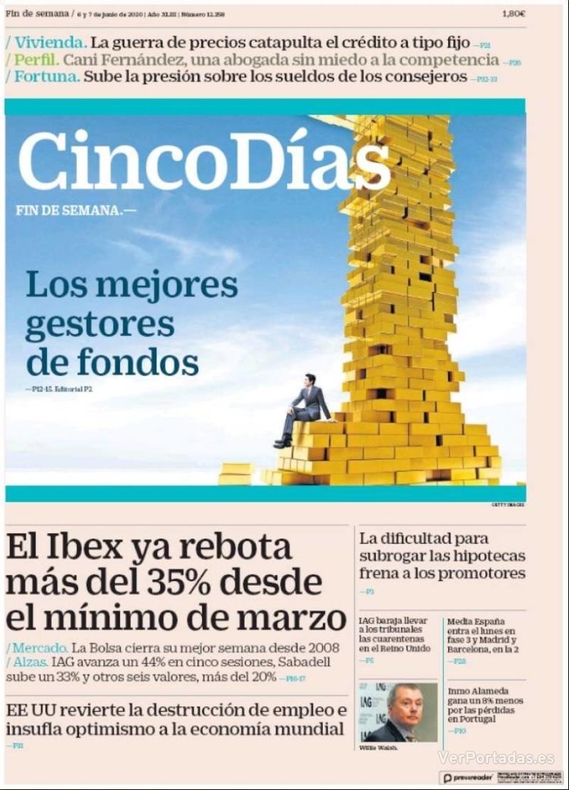 Portada El Economista 2020-06-06