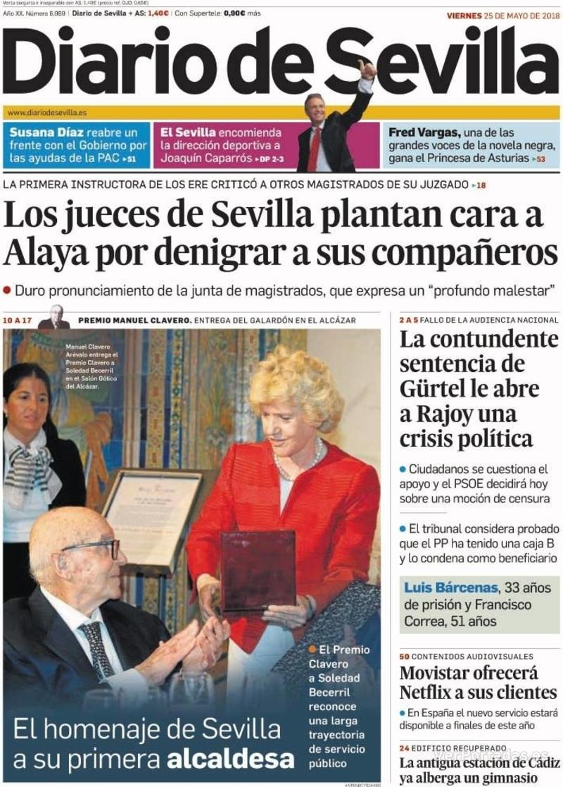 Portada Diario de Sevilla 2018-05-25