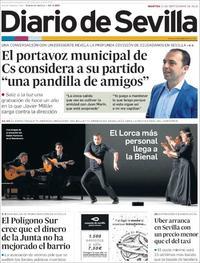 Portada Diario de Sevilla 2018-09-25