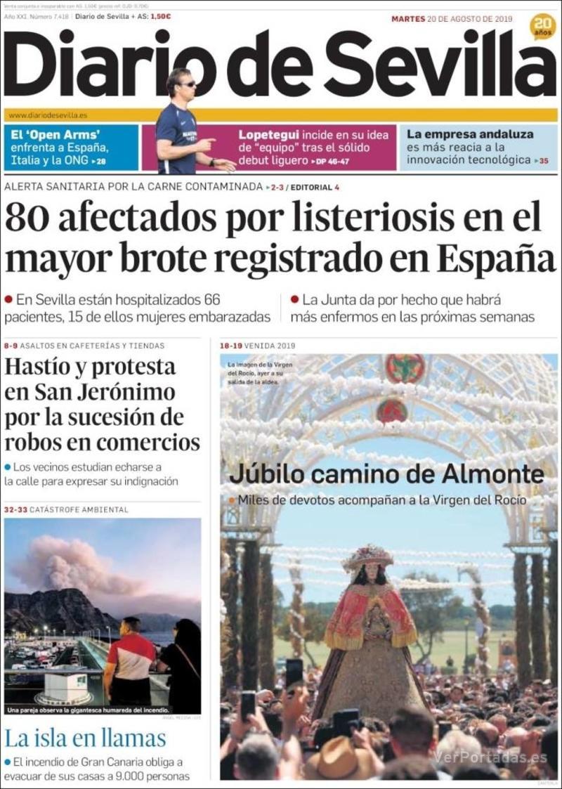 Portada La Voz de Galicia 2019-08-20