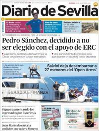 Portada Diario de Sevilla 2019-08-18