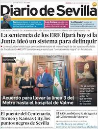 Portada Diario de Sevilla 2019-11-19