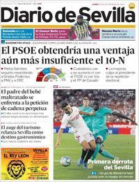 Portada Diario de Sevilla 2019-09-23