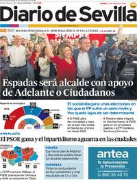 Portada Diario de Sevilla 2019-05-27