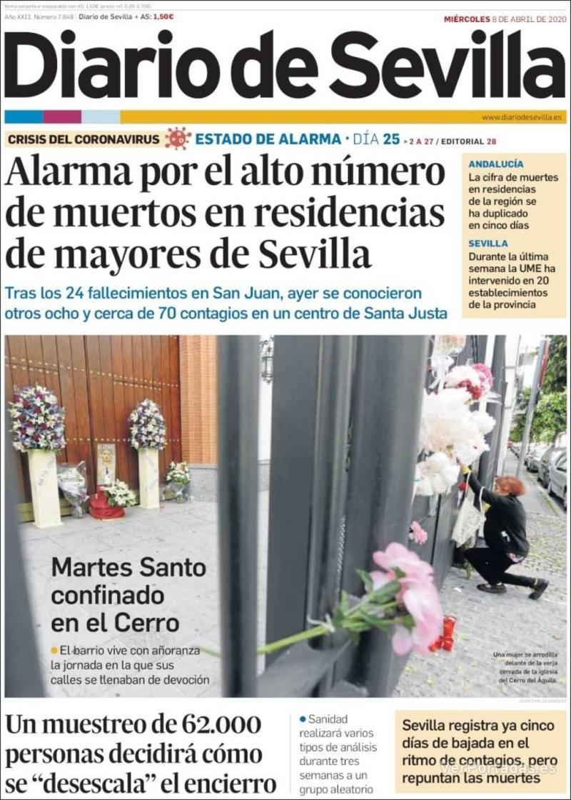 Portada La Voz de Galicia 2020-04-08